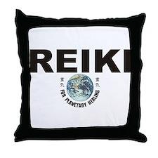 Reiki Planetary Healing Throw Pillow