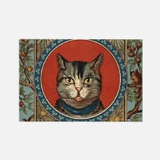 Cat World Vintage Kitty Rectangle Magnet