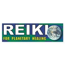 Reiki Planetary Healing Bumper Car Sticker