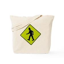Big Foot Crossing Sign Tote Bag