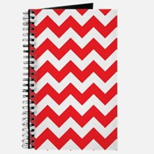 Red Chevron Stripes Journal