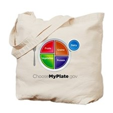 Choose My Plate Tote Bag