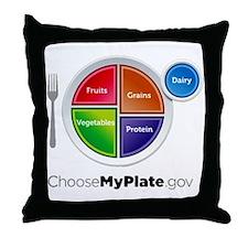 Choose My Plate Throw Pillow