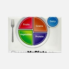 Choose My Plate Rectangle Magnet