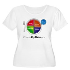 Choose My Plate Plus Size T-Shirt