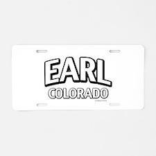 Earl Colorado Aluminum License Plate