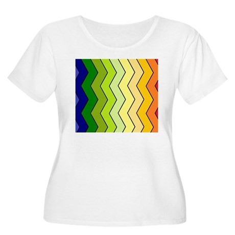 Warm Chevrons Plus Size T-Shirt