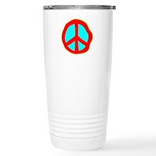 Dazed Peace Sign Travel Mug