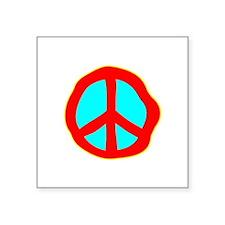 Dazed Peace Sign Sticker
