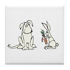 Dog and Rabbit Tile Coaster