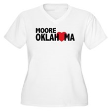 Moore Oklahoma Heart Plus Size T-Shirt