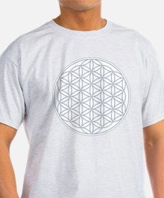 Flower of Life Organic Men's Fitted Tee (Gray) T-S