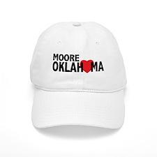 Moore Oklahoma Heart Baseball Baseball Cap