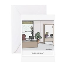 Unique Secretary Greeting Card