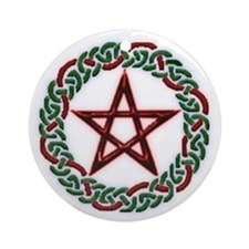 Celtic pent Ornament (Round)