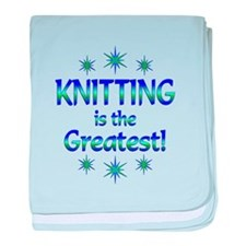 Knitting is the Greatest baby blanket