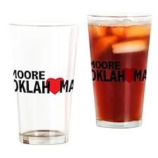 Moore Oklahoma Heart Drinking Glass