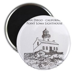 Point Loma Light House Magnet