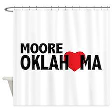 Moore Oklahoma Heart Shower Curtain