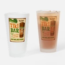 Tiki Bar Drinking Glass