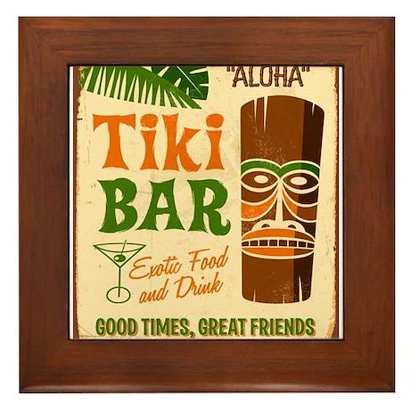 Tiki Bar Framed Tile