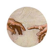 """Michelangelo Creation of Adam 3.5"""" Button (100 pac"""