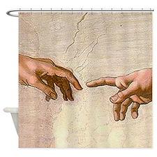 Michelangelo Creation of Adam Shower Curtain