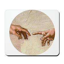 Michelangelo Creation of Adam Mousepad