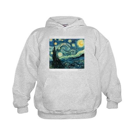 Starry Night Vincent Van Gogh Kids Hoodie