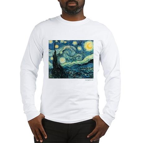 Starry Night Vincent Van Gogh Long Sleeve T-Shirt