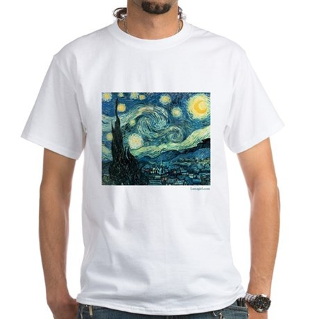 Starry Night Vincent Van Gogh White T-Shirt