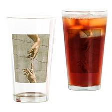 Michelangelo Creation of Adam Drinking Glass