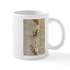 Michelangelo Creation of Adam Small Mug