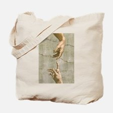 Michelangelo Creation of Adam Tote Bag