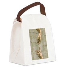 Michelangelo Creation of Adam Canvas Lunch Bag