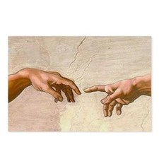 Michelangelo Creation of Adam Postcards (Package o