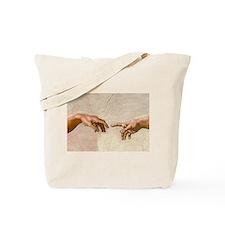 Michelangelo Creation of Adam Tote Bag