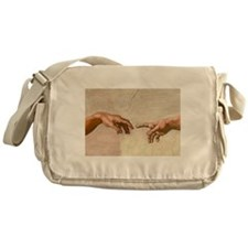 Michelangelo Creation of Adam Messenger Bag