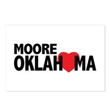 Moore Oklahoma Heart Postcards (Package of 8)