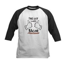 This guy loves bacon Baseball Jersey