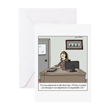 Cute Corporate greed Greeting Card