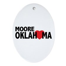 Moore Oklahoma Heart Ornament (Oval)