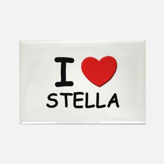 I love Stella Rectangle Magnet