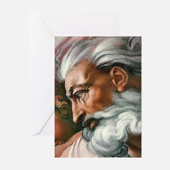 Michelangelo Creation of Adam Greeting Cards (Pk o