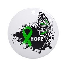 Spinal Cord Injury Butterfly Ornament (Round)