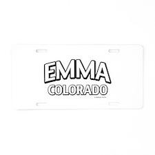 Emma Colorado Aluminum License Plate