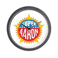 Super Aaron Wall Clock