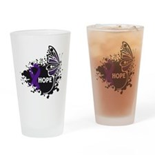 Sarcoidosis Hope Butterfly Drinking Glass
