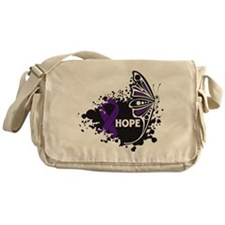 Sarcoidosis Hope Butterfly Messenger Bag