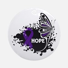 Sarcoidosis Hope Butterfly Ornament (Round)